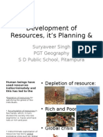 Development of Resources, it's Planning & Conservation