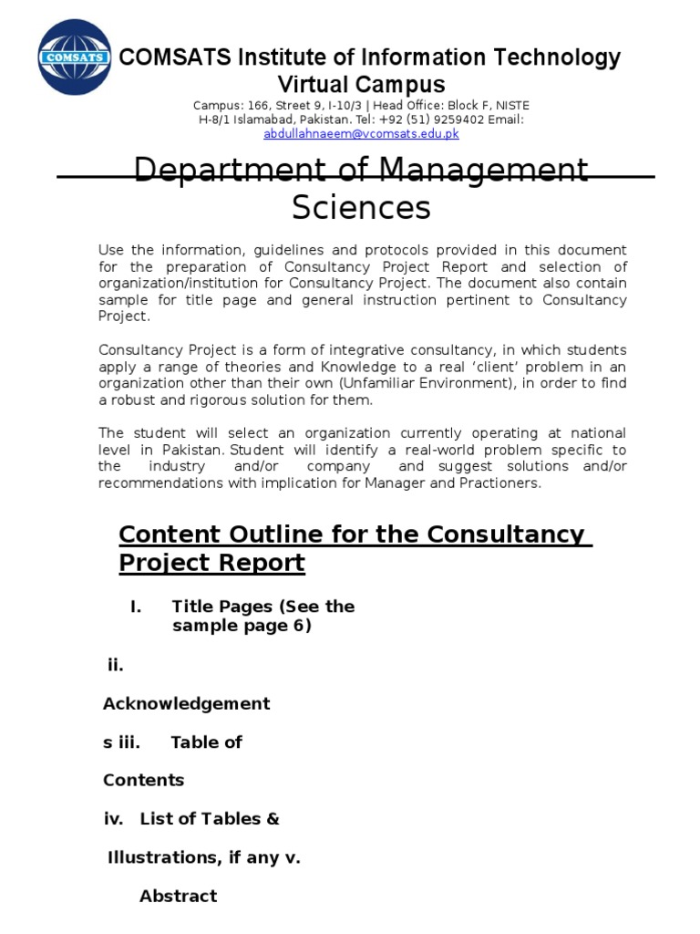 guidelines for consultancy project mgt529 typefaces consultant