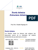 3 TEORIA ATOMICA ESTRUCTURA ATOMICA - 4 TABLA PERIODICA GEOMETRÍA MOLECULAR