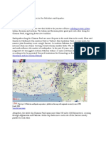 Relation of Plate Tectonics to the Pakistan Earthquake