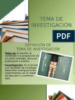 Como Definir Un Tema de Investigacion