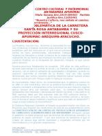 II Foro Problemática de La Carretera Santa Rosa Antabamba y Su Proyección Interregional Cusco