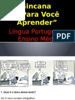 Gincana de Língua Portuguesa Com Gabarito