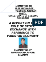 Role of Stock Exchange in Economic Development with reference to Pakistan