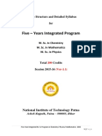 3.3.1 5Yr Integrated M Sc Program Course Structure Syllabus 2015-16 01052015