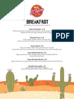 El Tejano Breakfast