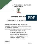 Glosario de Terminos de La Ingeneria Industrial