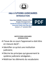 Institution Judiciare Senegalais
