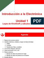 EL166 Unidad 1- Semana 2 - Leyes de Kirchhoff y Potencia