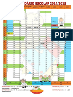 Calendário Escolar Ano Letivo 2014-2015