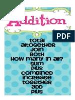 Addition Vocab Sign