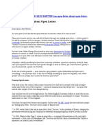 NPR- Open Letter About Open Letters
