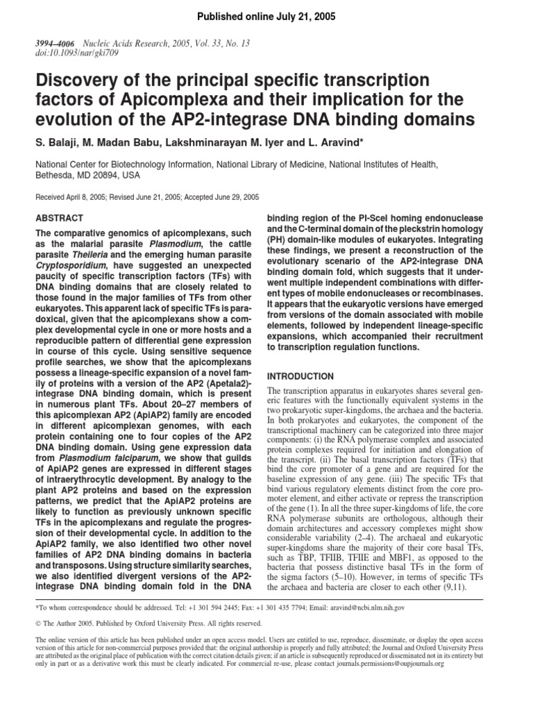 Discovery of the principal specific transcription factors of