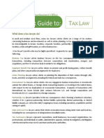 Quick Guide to Tax Law