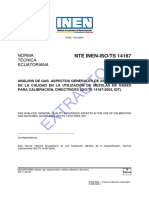 Nte Inen Iso TS 14167extracto VERIFICAR PARA GAS