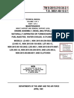 engine m35a2 pdf   Pump   Fuel Injection