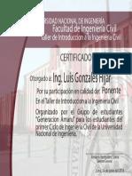 CERTIFICADO Luis Gonzales Hijar