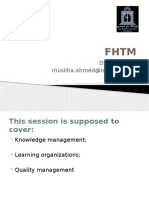 Session 6- Knowledge Management, Learning Organisations
