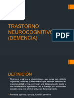 Trastorno Neurocognitivo Mayor Demencia