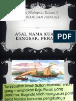 Asal Nama Kuala Kangsar, Perak