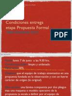 Condiciones Propuesta Formal