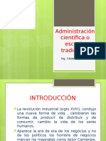 Administración Científica o Escuela Tradicional
