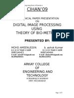 Digital Image Processing by Using the Theory Ofbiometrics
