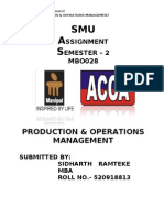 MB0028 PRODUCTION & OPERATIONS MANAGEMENT