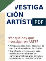 La Investigación Artística Diapositivas