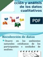 Recolección y Análisis de Los Datos Cualitativos