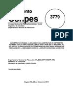 CONPES 3779 - Empréstito Financiamiento a La Implementación de La PNL