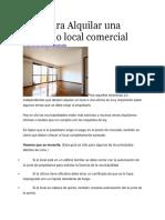 Guía Para Alquilar Oficina o Local Comercial