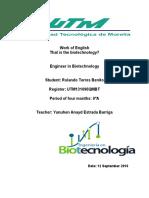 Work of English Biotecnology