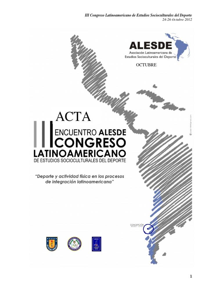 big sale bedaa e08f5 Actas ALESDE 2012