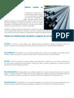 Distintos Tipos de Plásticos Usados en Construcción1
