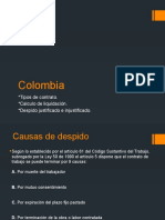 Colombia causas de despido