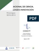 Plan Nacional de Ciencia y Tecnología Actual