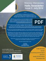 Halls Newsletter Issue 3 2016
