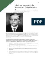 Otto Warburg - Premio Nobel - Origen Del Cáncer