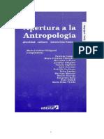 CHIRIGUINI, Aṕertura a La Antropología