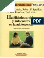 Habilidades sociales y autocontrol en la adolescencia - Goldstein, Sprafkin, Gershaw y Klein.pdf