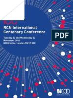 Centenary Conference Programme