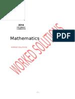 2014 Mathematics Preliminary - Solutions (1)