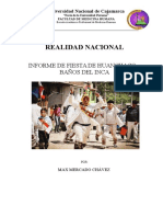 INFORME DE LA FIESTA DE HUANCHACO