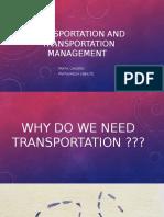 Transportation and Transportation Management