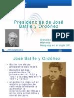 Presidencias de Batlle y Ordoñez