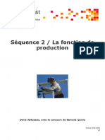 2 La Fonction de Production