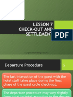Lesson 7 - Check Out Procedure