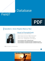 career in database field