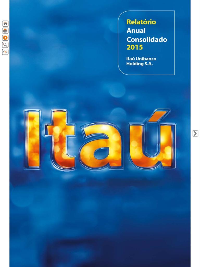 Itaú - Relatório Anual Consolidado 2015 7b00821863